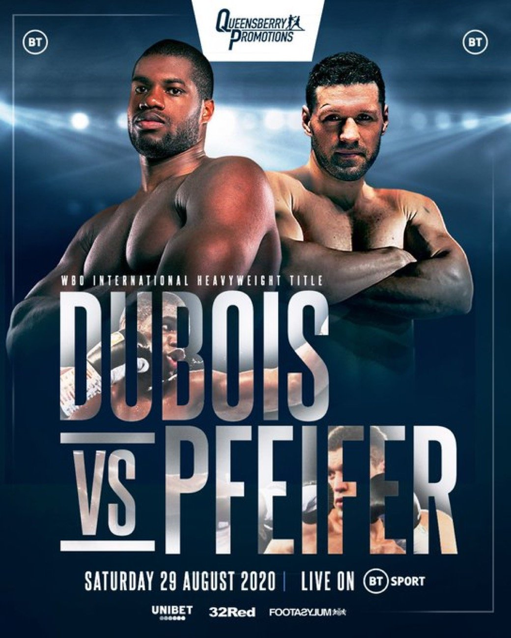 Dubois vs Pfeiffer - BT Sport - Aug. 29 @ London | London | England | United Kingdom