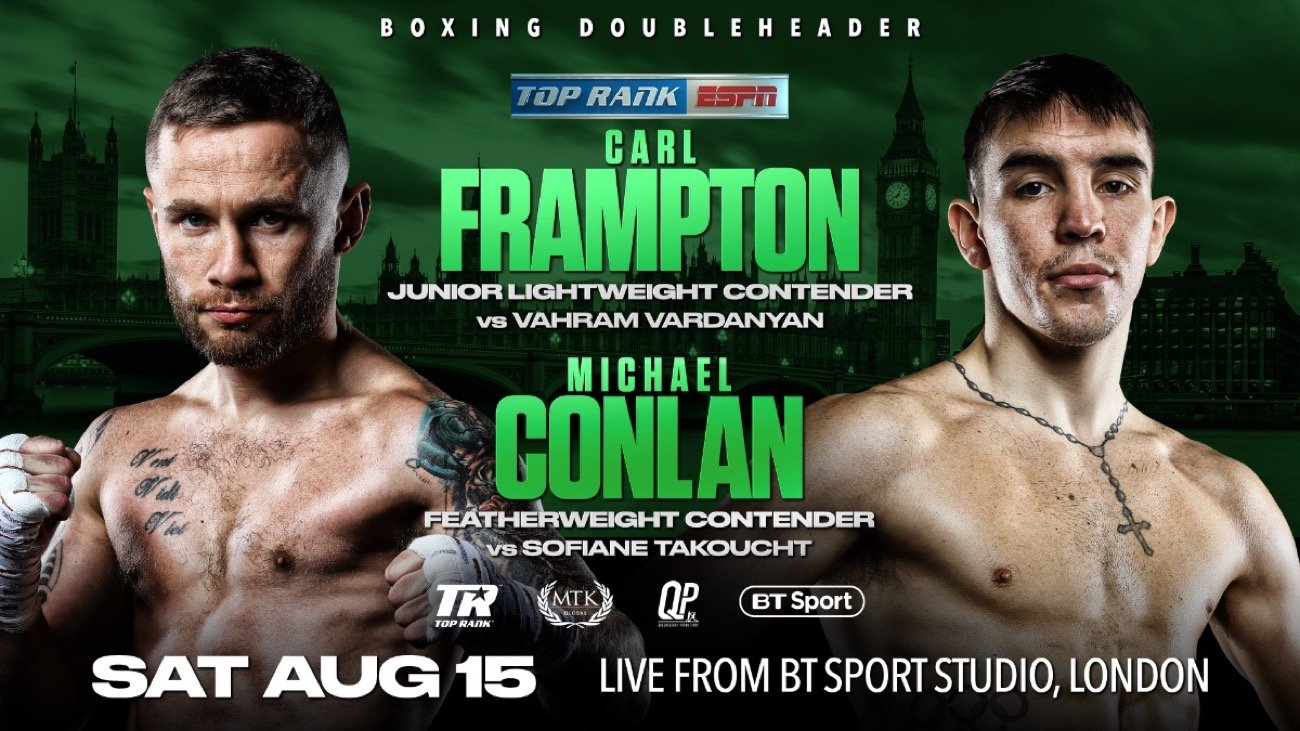 Frampton Vs Vardanyan - BT Sport, ESPN+ - Aug. 15 @ London | London | England | United Kingdom