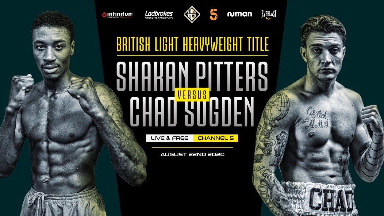 Hennessy Sports is thrilled to announce that big-time championship boxing will return live and on free-to-air television on Saturday 22nd August when fierce rivals Shakan Pitters and Chad Sugden collide for the Vacant British Light-Heavyweight title on Channel 5.