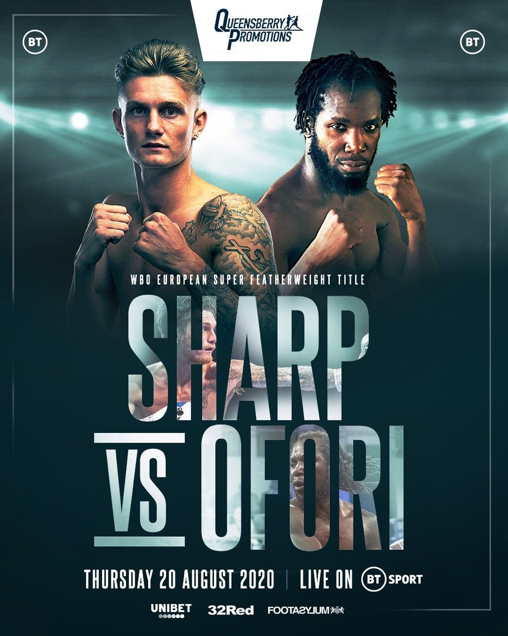 Sharp vs Ofori - BT Sport- Aug. 20 @ London | London | England | United Kingdom