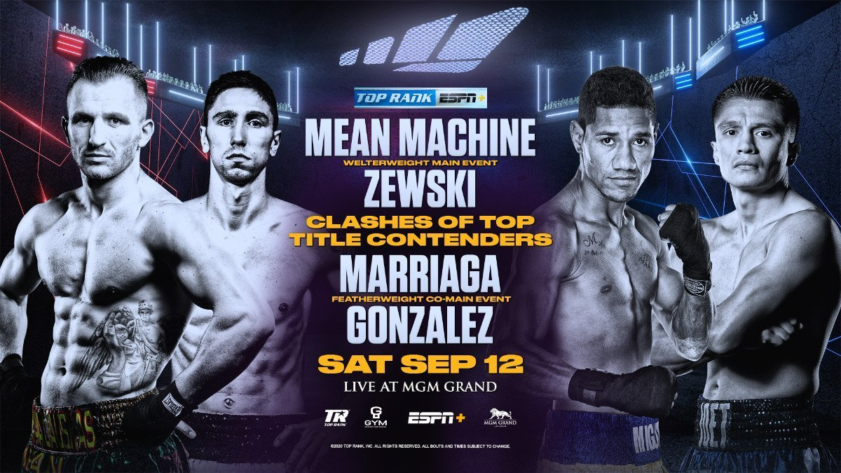 Kavaliauskas vs Zewski - ESPN+ - Sept. 12 @ MGM Grand Conference Center | Las Vegas | Nevada | United States
