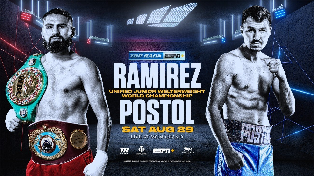 Jose Ramirez-Viktor Postol world title bout tops ESPN+ card from Las Vegas at 7:30 p.m. ET/4:30 p.m. PT