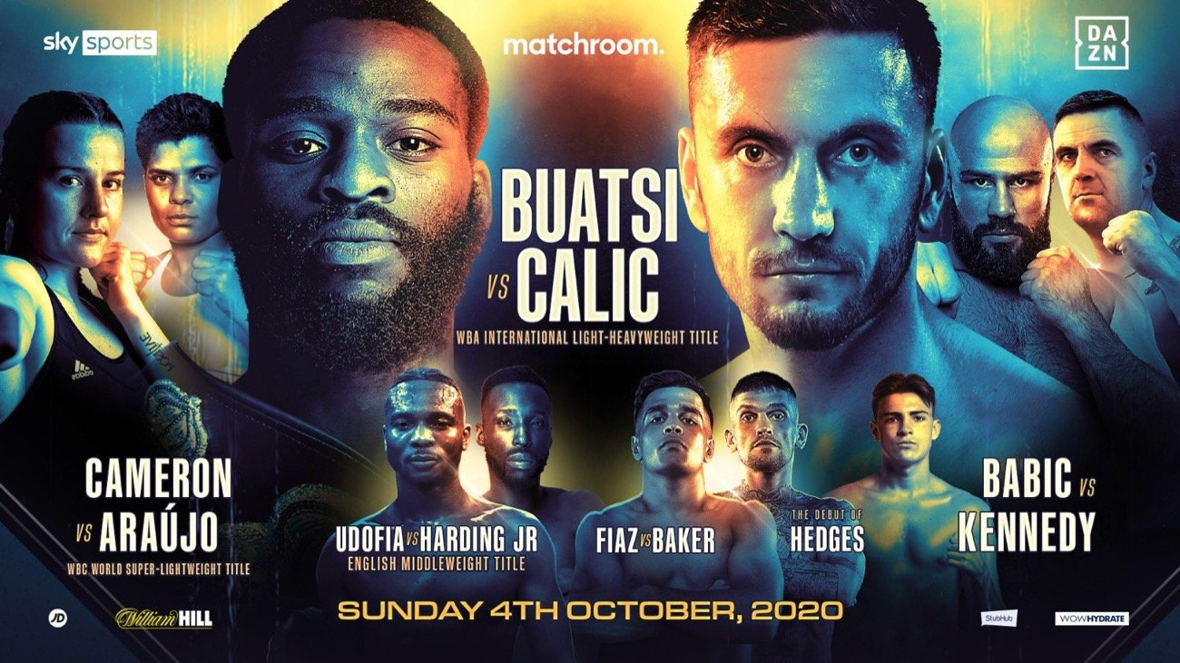 Buatsi vs Calic - DAZN, Sky - October 4 @ London, UK | London | England | United Kingdom
