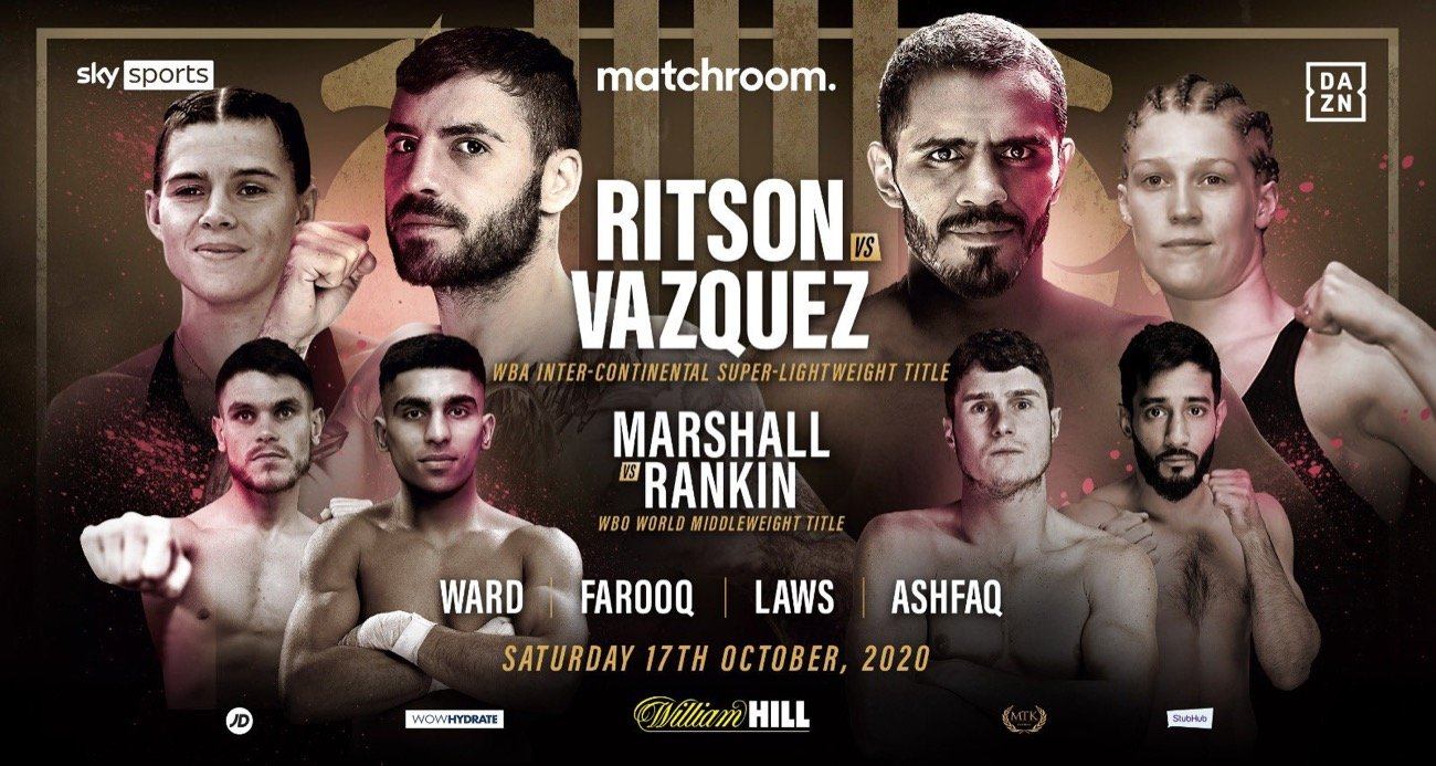 Lewis Ritson will defend his WBA Inter-Continental Super-Lightweight Title against Mexico's former long-reigning World Champion Miguel Vazquez on Saturday October 17, live on Sky Sports and DAZN.