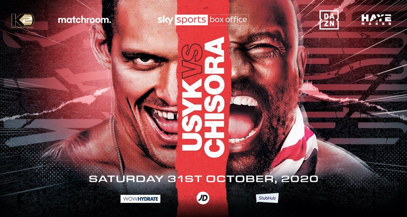 Usyk vs Chisora - DAZN, Sky - October 31 @ London, UK | London | England | United Kingdom