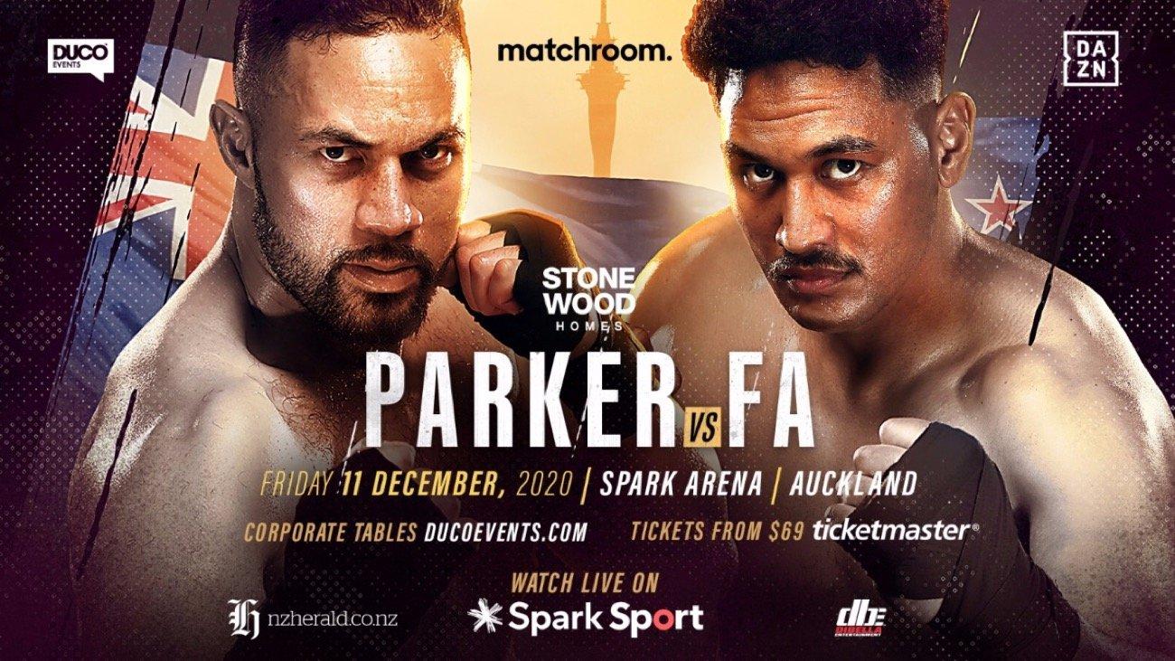 Parker vs Fa - DAZN - December 11 @ Spark Arena, Auckland | Auckland | Auckland | New Zealand