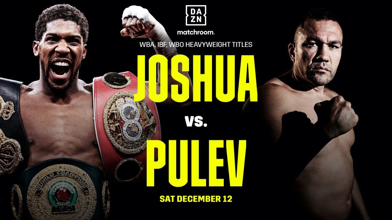 Unified Heavyweight Champion of the World Anthony Joshua OBE will defend his IBF, WBA, WBO, and IBO World Titles against Mandatory Challenger Kubrat Pulev at The O2 in London on Saturday, December 12.