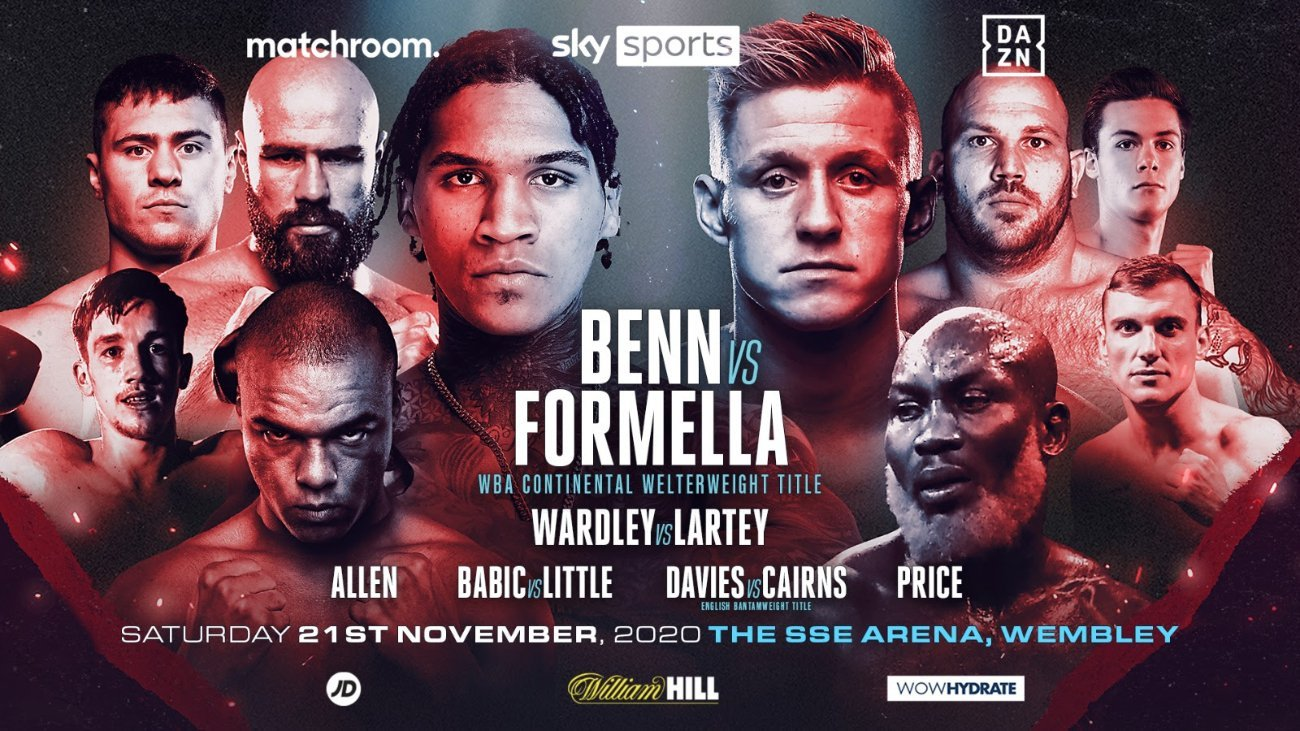 Formella vs Benn - Sky Sports, DAZN - Nov. 21 @ The SSE Arena, Wembley